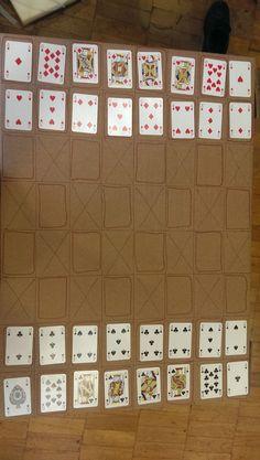 Бюджетная шахматная доска из картона и карт   #lifehack #game #chess #cool