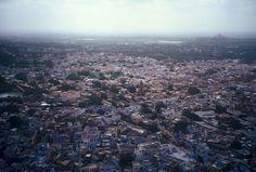 INDIA 1995 - Jodhpur जोधपुर, Rajasthan - La Blue City  (foto G.Arcese)