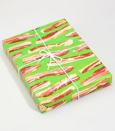 bacon gift wrap... good for wrapping manly gifts.... or gifts for @Hannah Mestel Black
