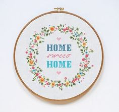 Home Sweet Home! Complete cross-stitch kit for this pattern you can order here: https://www.etsy.com/listing/281106654 CONTENT Pattern includes: - a PDF pattern, black and white symbols with DMC colors map; - a PDF pattern, symbols over colors with DMC colors map; All PDF-files you can easily read using Adobe Acrobat: http://get.adobe.com/it/reader/ DETAILS - 16 DMC colors - 140x138 stitches - area of embroidered image - 10 x 9.9 inches (or ...