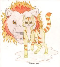 WarriorCats: Lionblazeby ~AshesAndWings     Fan Art / Traditional Art / Drawings / Books & Novels  ©2012-2013 ~AshesAndWings    a pic of Lionblaze for warrior fans. hope you like. doesn't he look pretty and golden? will try to submit pics of Jayfeather, Hollyleaf, and Dovepaw as well. Warriors belongs to Erin Hunter, not me.