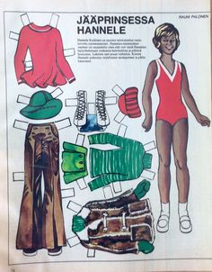 Finnish Paper Doll Hannele Koskinen, also Antikainen, is a Finnish former competitive figure skater. She is the 1978 Nordic champion and a two-time Finnish national champion, representing Helsingin taitoluisteluklubi. Retired: 1978 *** 1 of 2