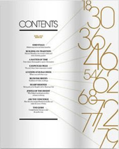 Black and Gold table of contents #artdeco #magazine