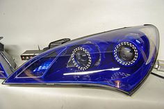 Blue Switchback LED dual projector Retrofit for Hyundai Genesis Coupe headlights by FlyRyde