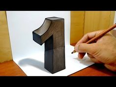 """3D Trick Art on Paper, Number """"1"""" - YouTube"""