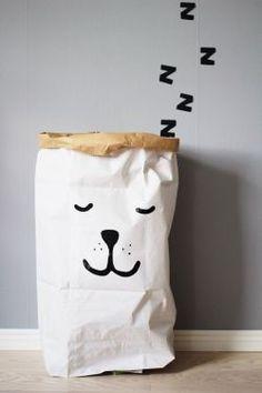 TELLKIDDO / Úložný papírový pytel Sleeping Bear