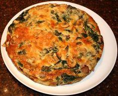 Frittata met champignons en spinazie