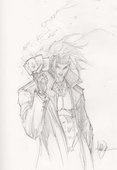 Gambit sketch by Michael Turner
