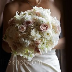 Dana carried a neutral-toned, textured bouquet of garden roses, lisianthus, astilbe and stock. Wedding Wishes, Our Wedding, Wedding Stuff, Southern Weddings, Real Weddings, Wedding Bouquets, Wedding Flowers, Bridesmaids And Mother Of The Bride, Blush Bouquet