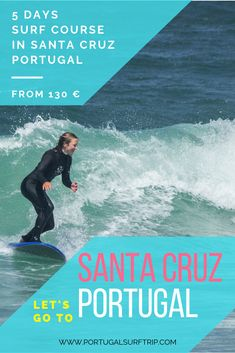 5 DAYS SURF COURSE IN SANTA CRUZ   PORTUGAL SURF TRIP what is included : ~ 5 surf lessons with certified local instructors  ~ full & quality surf equipment  ~ beach transfer to the best surf spot #surf #course #in #SantaCruz #portugal #surfHoliday #surfVacation #surfing #waves #atlantic #ocean #active #holiday #travel #surfTrip #portugalsurftrip Santa Cruz Portugal, Santa Cruz Surf, Best Surfing Spots, Surf Trip, Adventure Activities, Yoga Retreat, Atlantic Ocean, Holiday Travel, Have Fun