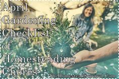 April Gardening Checklist of Homesteading Chores Homesteading  - The Homestead Survival .Com