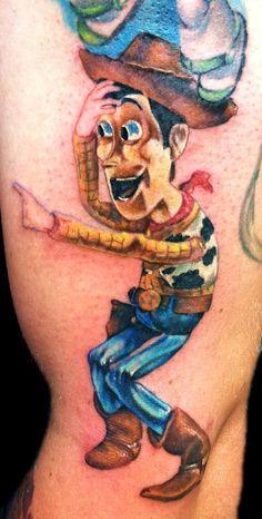 9abd2c312 Iconic Woody image Movie Tattoos, Cartoon Tattoos, Disney Tattoos, Arm  Tattoos, Tatoos