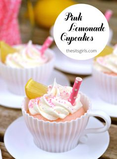 Everything you could want in a dessert, in one cute cupcake. Pink lemonade cupcakes are easy to bake and yummy to eat.