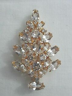 "Eisenberg Ice Christmas Tree Pin--2 3/4 "" x 2 1/2 """