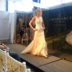 Casablanca 2211 perfect dress for brides who want a different look for the ceremony and reception