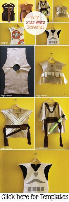 Star Wars Kostüm selber machen mit Video Tutorial *** Easy DIY Star Wars Costumes Video Tutorial