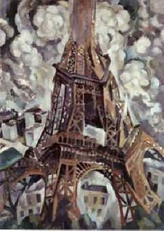 La Tour Eiffel, 1909 by Robert Delaunay (French, Georges Seurat, Georges Braque, Robert Delaunay, Sonia Delaunay, Tour Eiffel, Henri Fantin Latour, Francis Picabia, Edward Hopper, Art Moderne