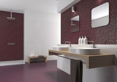 Cube - Red body wall #tiles