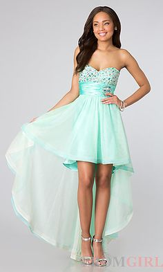 Strapless High Low Dress for Prom at PromGirl.com