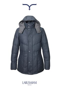 Cashmere lined-down jacket www.larusmiani.it #handmade #musthave #italy #fashion