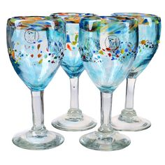 Found it at Wayfair - Del Sol Goblet Glass (Set of 4)