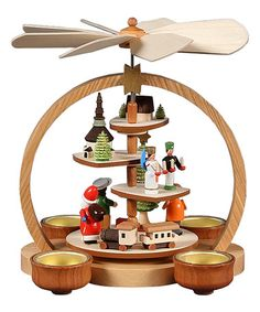 This Christmas in a German Village Pyramid is perfect! #zulilyfinds