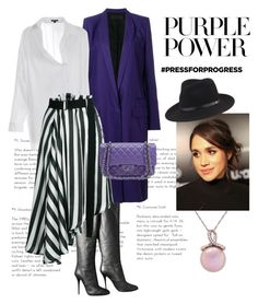 """Purple Power"" by sakuranoki ❤ liked on Polyvore featuring Giuseppe Zanotti, Haider Ackermann, Ann Demeulemeester, Honora, Chanel, rag & bone, purplepower, internationalwomensday and pressforprogress"