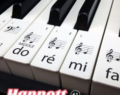 Teclado / Piano pegatinas hasta 61 teclas la mejor por Hannott