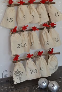 Advent calendar: simple drawstring pouches, easy sewing project