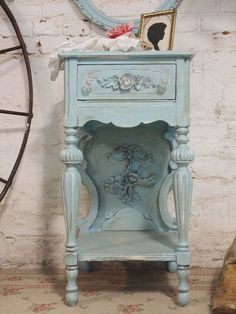 Painted Cottage Chic Shabby Aqua Romantic by paintedcottages, $225.00