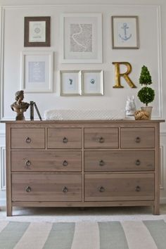 good staging makes this IKEA Hemnes look great. I like how the dresser has a natural tone. Maybe on the hardware