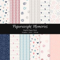 Patterned Paper – Love is in the Air by Paperweight Memories on Creative Market