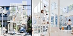 Transparent House. Modern single family house with floor-to-ceiling glass windows is located in a quiet neighborhood in Tokyo.