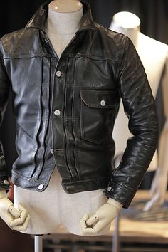 """1st type hosehide jacket """"Oklahoma City"""" producted by HIGH LARGE LEATHERS"""