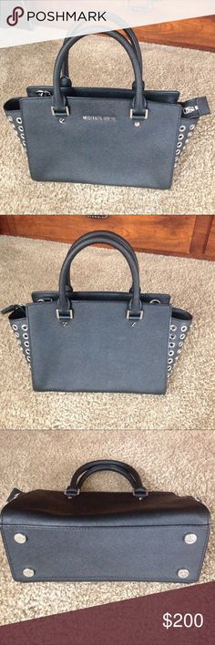 MK purse Gorgeous black grommet Selma. Would call this medium size. Perfect  condition. 5287007004