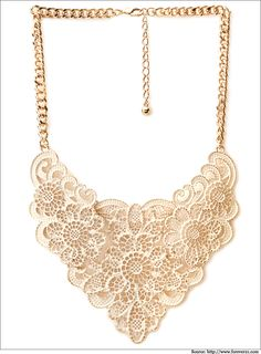 Short chain Heirloom filigree bib #necklace.  #Forever21 #WomenFashion