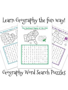 The Unit, United States Regions, 6th Grade Social Studies, Printable Worksheets, Printable Maps, Geography Worksheets, Geography For Kids, How To Introduce Yourself, Region