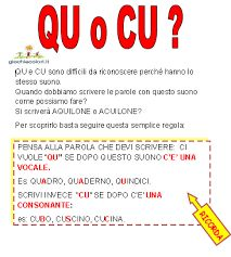 Risultati immagini per schede qu cu Italian Grammar, Italian Vocabulary, Italian Language, Italian Lessons, Learning Italian, Primary School, Montessori, Literacy, Homeschool