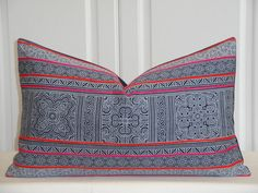 Tribal Decorative Pillow Cover  12 x 20  by TurquoiseTumbleweed