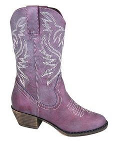 Look what I found on #zulily! Dusty Purple Savannah Luster Cowboy Boot by Smoky Mountain Boots #zulilyfinds