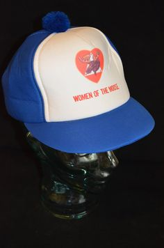 Vintage Women of the Moose Club Snapback Baseball Cap Hat (One Size Fits All) by FloridaFinderApparel on Etsy