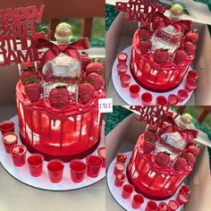 Alcohol Birthday Cake, Alcohol Cake, Special Birthday Cakes, Custom Birthday Cakes, 21st Birthday Cakes, Beautiful Birthday Cakes, Bottle Cake, Blueberry Cupcakes, Chocolate Covered Treats