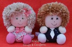 Lindos 😍 Doll Crafts, Fun Crafts, Diy And Crafts, Arts And Crafts, Sewing Toys, Sewing Crafts, Nylon Flowers, Sock Dolls, Fabric Boxes