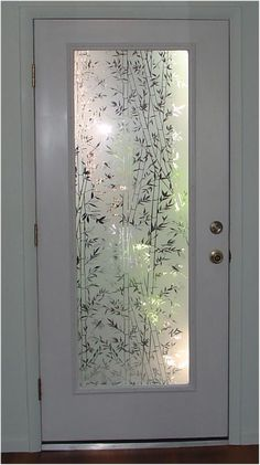 Would be a nice laundry room door! Popular Bamboo design static cling film clings to any smooth glass or plastic surface. Great decorative film for glass doors that are standard sizes and French Bathroom Windows, Bathroom Doors, Master Bathrooms, Glass Bathroom, Bathroom Ideas, Bamboo Bathroom, Bathroom Closet, Design Bathroom, Bath Design