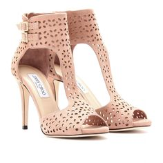 TABA PERFORATED SUEDE SANDALS seen @ www.mytheresa.com