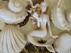 mermaid and seashells gift set soap favors - beach wedding gifts, baby shower favor, birthday favor, $15.00