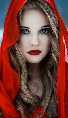 Little Red Riding Hood Makeup Ideas: Makeup on Your Halloween Day >> http://cutemakeupideass.com/makeup-ideas/little-red-riding-hood-makeup-ideas/