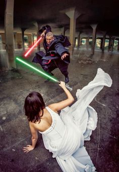 Star Wars wedding photos