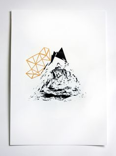 MOUNTAIN SCREEN PRINT