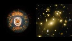 Eskimo with nearby galaxy, Photo credit: created by NASA and the European Space Agency Hubble Pictures, Hubble Images, Telescope Pictures, Nasa Space Station, Nasa Solar System, Distorted Images, Gemini Constellation, Nasa Space Program, Hubble Space Telescope